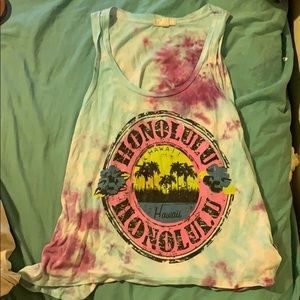 Tie dye honolulu tank top